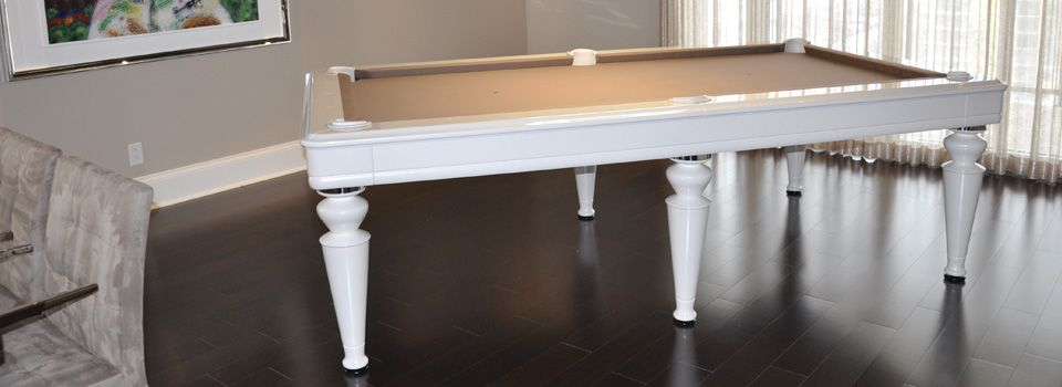 table de billard en blanc
